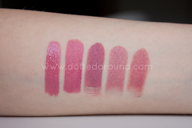 Mac Mehr lipstick comparison Nars Guerlain Urban Decay