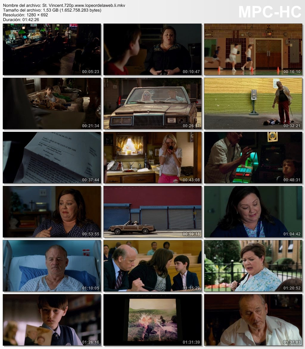 St. Vincent (2014) BRrip 720p Latino-Ingles