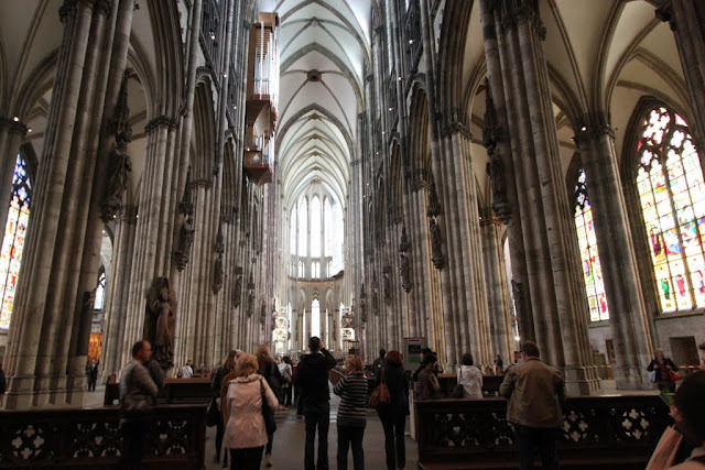 The main view of the choir at Cologne Cathedral, Cologne, Germany