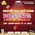 Khuyến mãi Giờ Vàng iOnline 100% giá trị thẻ nạp ngày 13.04