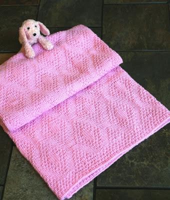 Crochet Baby Blanket Diamond Pattern : BABY DIAMONDS BLANKET PATTERN Free Baby Patterns
