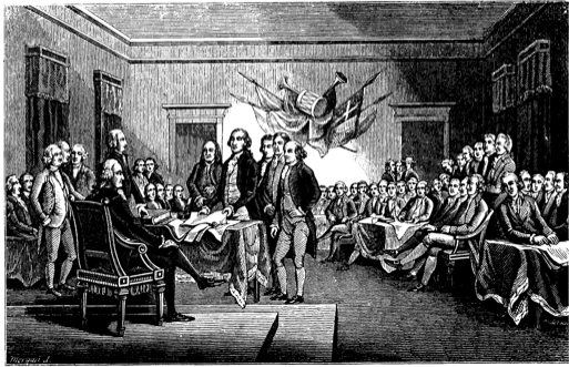 Signing Of The Declaration Of Independence Black And White