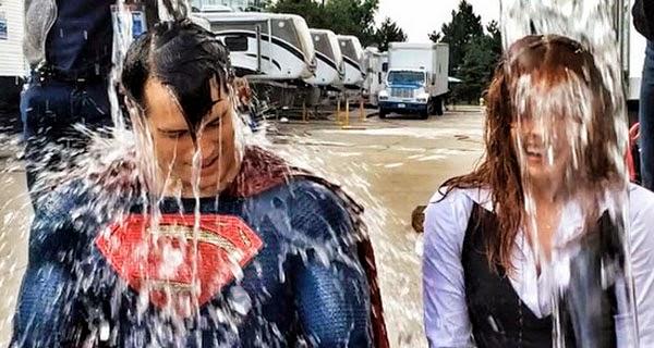 Henry Cavill y Amy Adams Ice Bucket