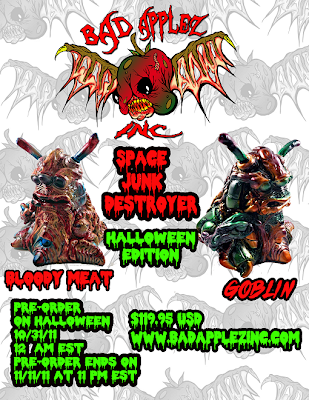 "Halloween Edition Space Junk Destroyer Resin Figures by Bad Applez Inc. -  ""Bloody Meat"" & ""Goblin"" Colorways"