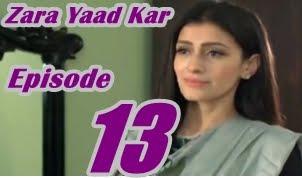 Zara Yaad Kar Episode 13 by Hum Tv