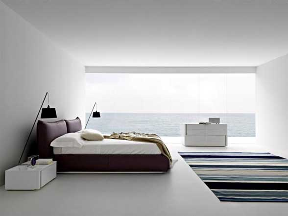 Home decoration design minimalist bedroom decorating tips for Minimalist bedding design