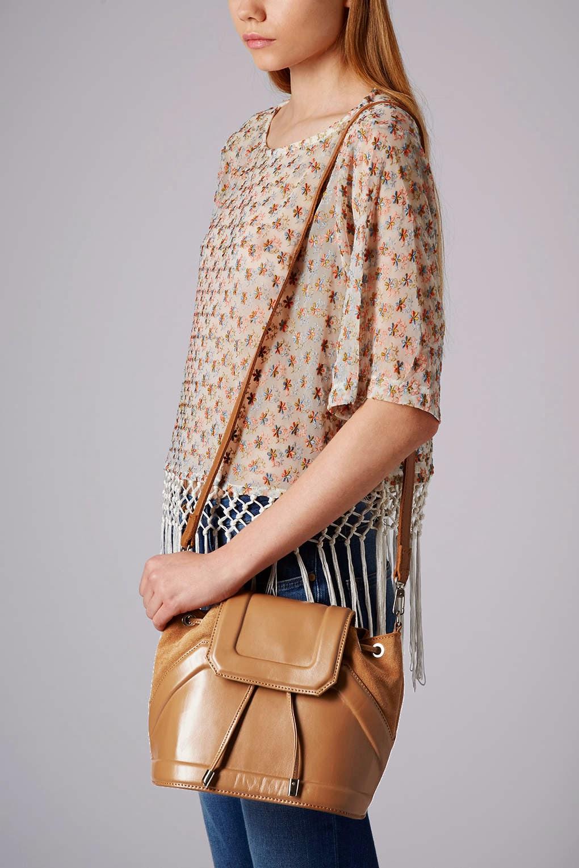 topshop tan handbag