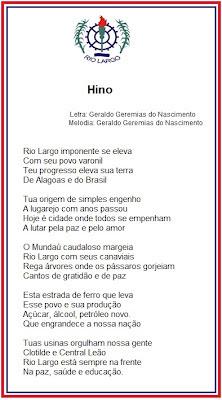 download do hino Rio largo