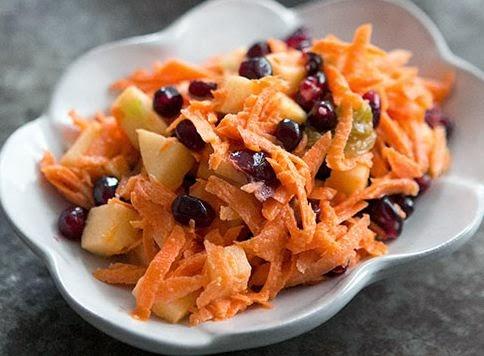 Jeweled Carrot Salad Apple Pomegranate Recipe