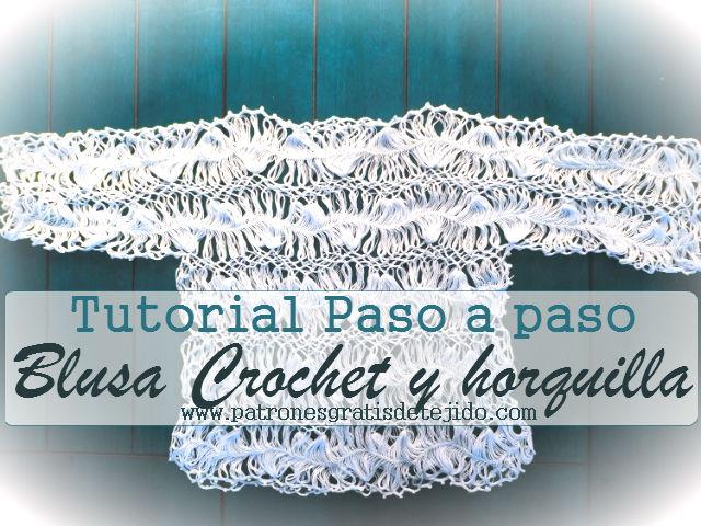 Tutorial: Blusa tejida al crochet y horquilla / CURSO CROCHET ONLINE ...