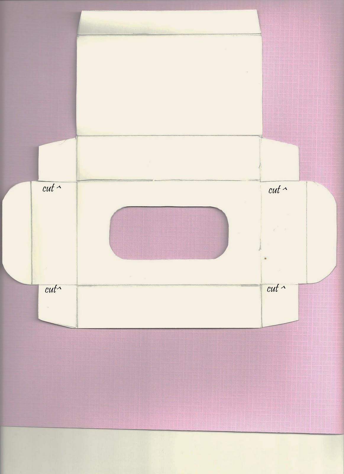 a creative operation kleenex pocket pack box template. Black Bedroom Furniture Sets. Home Design Ideas