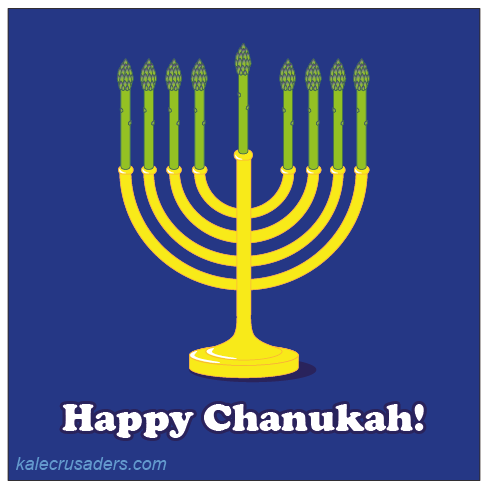 Happy Chanukah, Happy Hanukkah, Menorah, Hanukiah, Asparagus