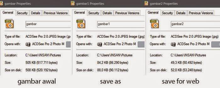 cara mengoptimalkan Gambar Untuk Web dengan photoshop