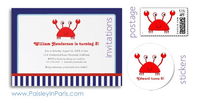 Nautical Birthday Party Invitations