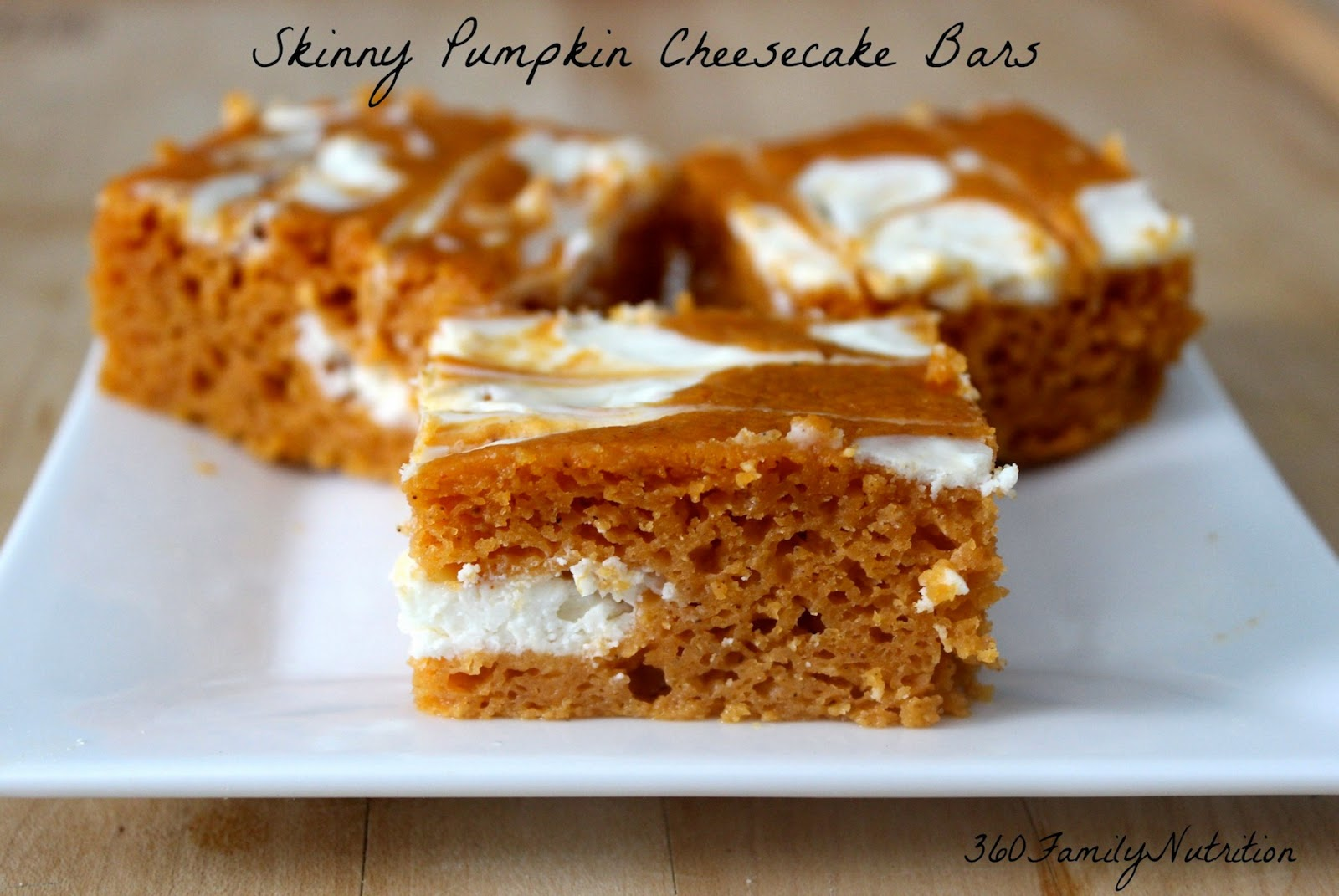 360FamilyNutrition: Skinny Pumpkin Cheesecake Bars