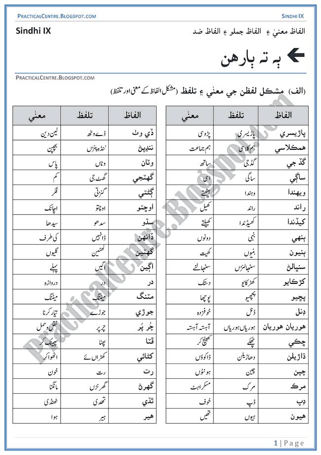 ek-or-ek-gyarah-words-meanings-and-idioms-sindhi-notes-ix