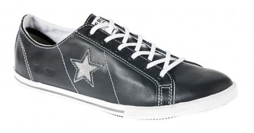 zapatillas negras Adolfo Domínguez & Converse