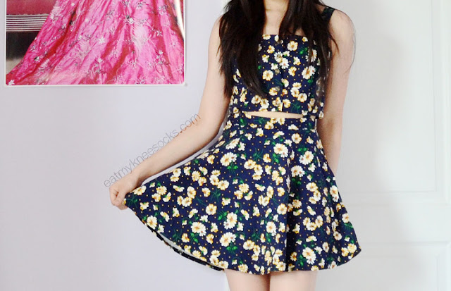 SheIn's cute floral suspender skater dress is a perfect, ulzzang-inspired item for the summer.