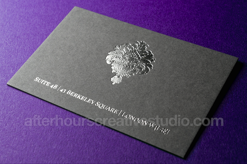 Luxury business cards 2015 luxury cards include letterpress printing hot foil stamping and blind debossing to make better cards reheart Images