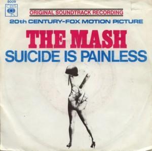 Tapa del sencillo Suicide is Panless (vinilo, J. Mandel)