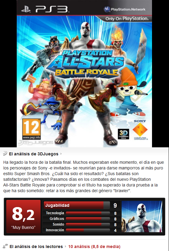 All-Stars Battle Royale [PS3][Esp][3.55]