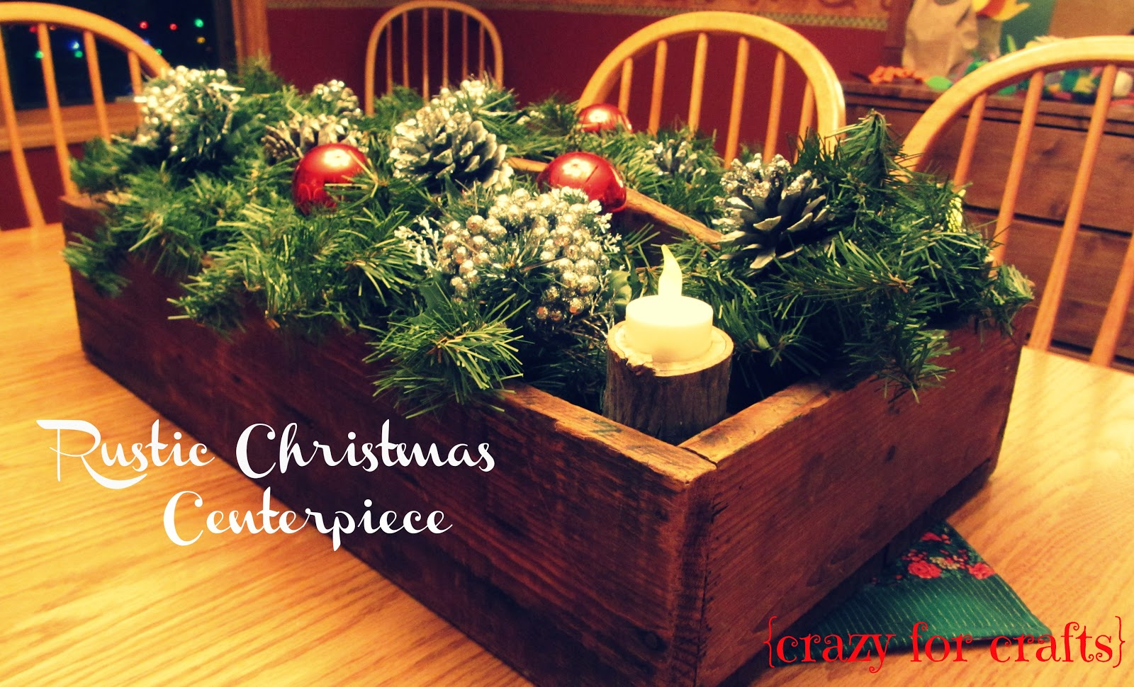 rustic christmas centerpiece - Rustic Christmas Centerpieces