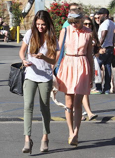 Selena Gomez and Taylor Swift on their way to lunch in Malibu