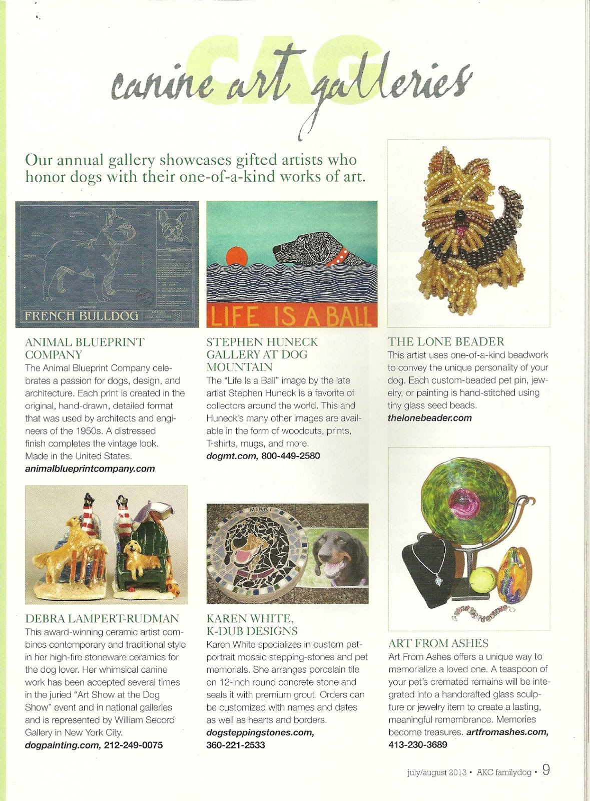 To you family dog magazine features animal blueprint companys dog art family dog magazine features animal blueprint companys dog art malvernweather Gallery