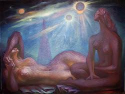 Dos Mujeres Contemplando el Universo, 1966