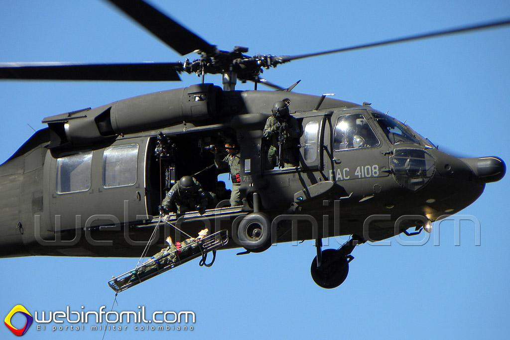 FAC4108 UH-60 Black Hawk Fuerza Aérea Colombiana