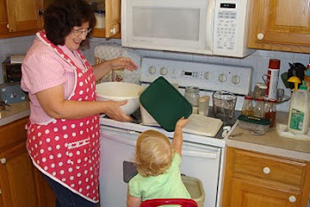 cooking with granddaughter Elizabeth