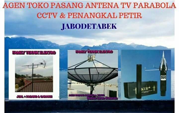 AGEN TOKO PASANG ANTENA TV PARABOLA CCTV PENANGKAL PETIR