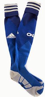 gambar kaos kaki olympique lyonaise grade ori musim 2014/2015, harga murah, grosir, toko olahraga kaos kaki bola