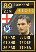 Frank Lampard (IF1) 89 - FIFA 12 Ultimate Team Card