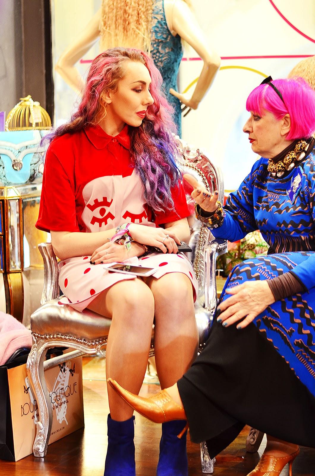 stephi lareine pink hair zandra rhodes
