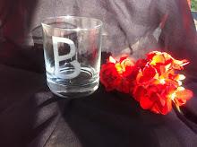 Bicchiere inciso a mano con logo