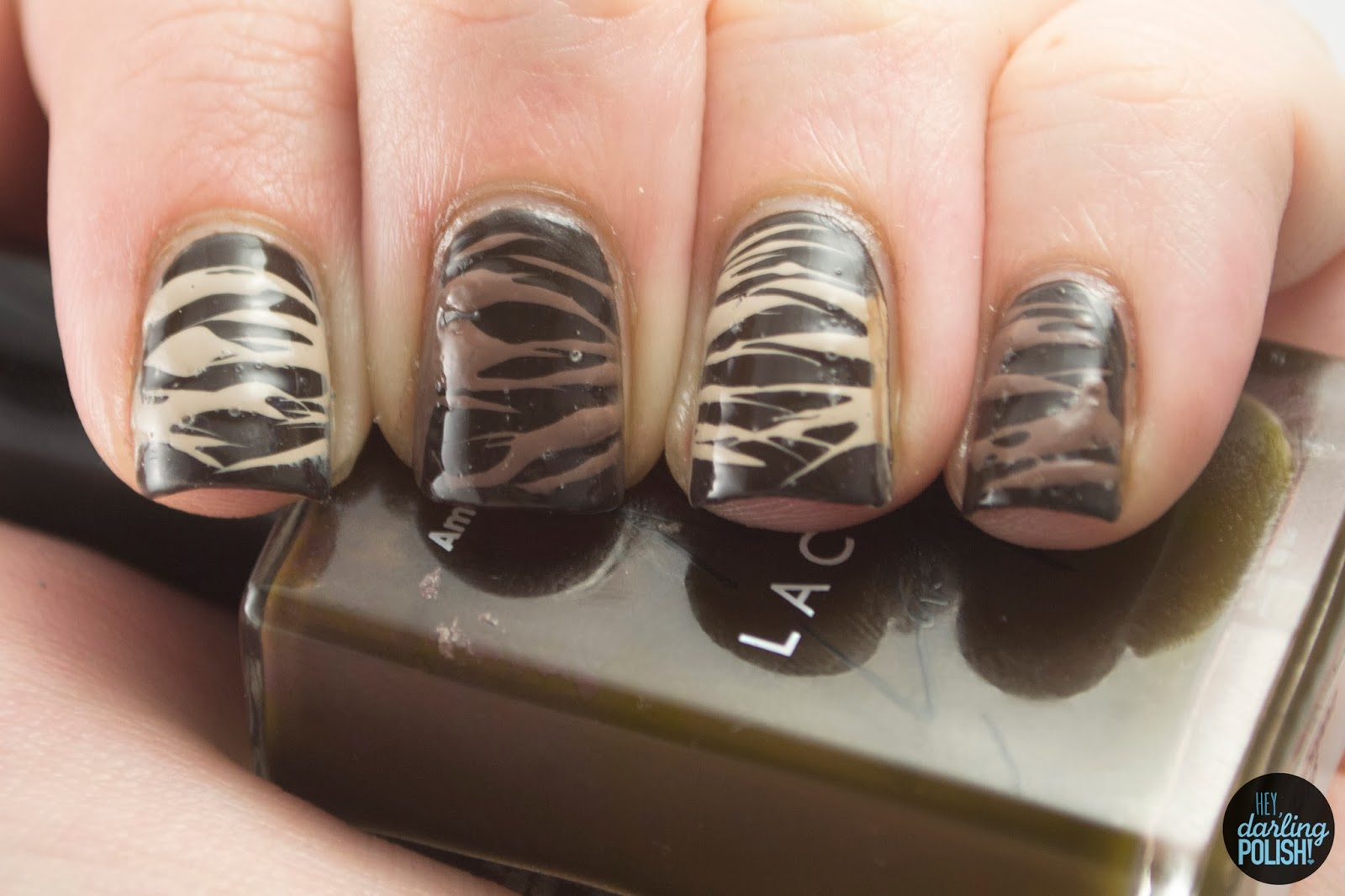 nails, nail art, nail polish, polish, brown, chocolate, sugar spun, nail art a go go, hey darling polish
