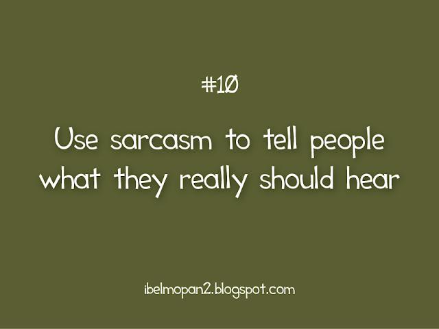 using sarcasm