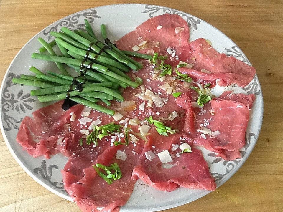 Cuisiner comme lettie le carpaccio de viande la the duke - Comment cuisiner le coeur de boeuf en tranche ...