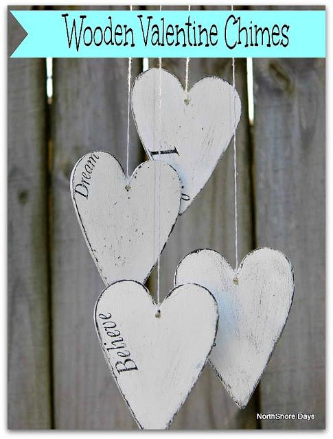 Wooden Valentine Chimes