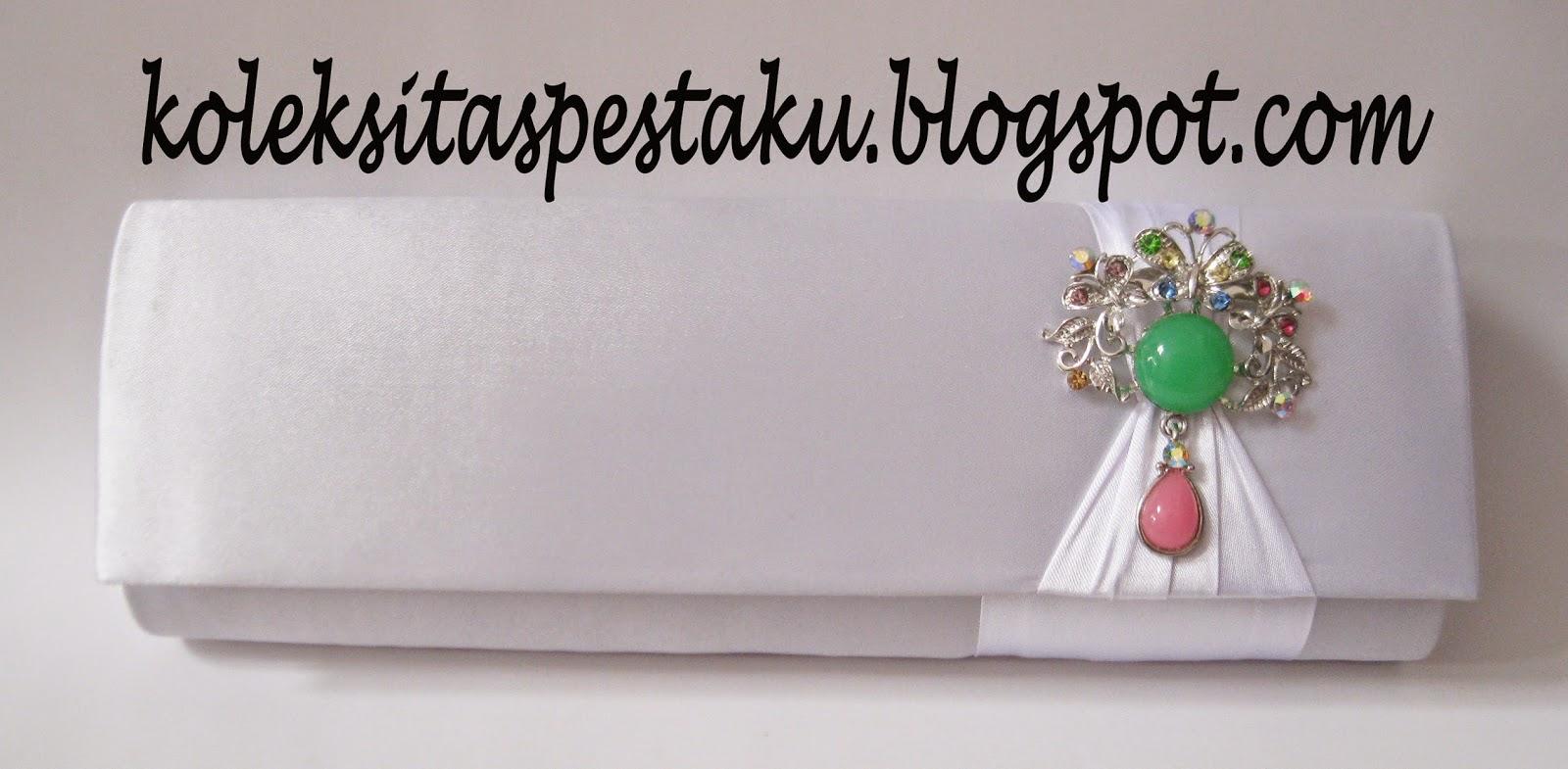 Tas Pesta Putih Bross Cantik Harga Terjangkau Murah
