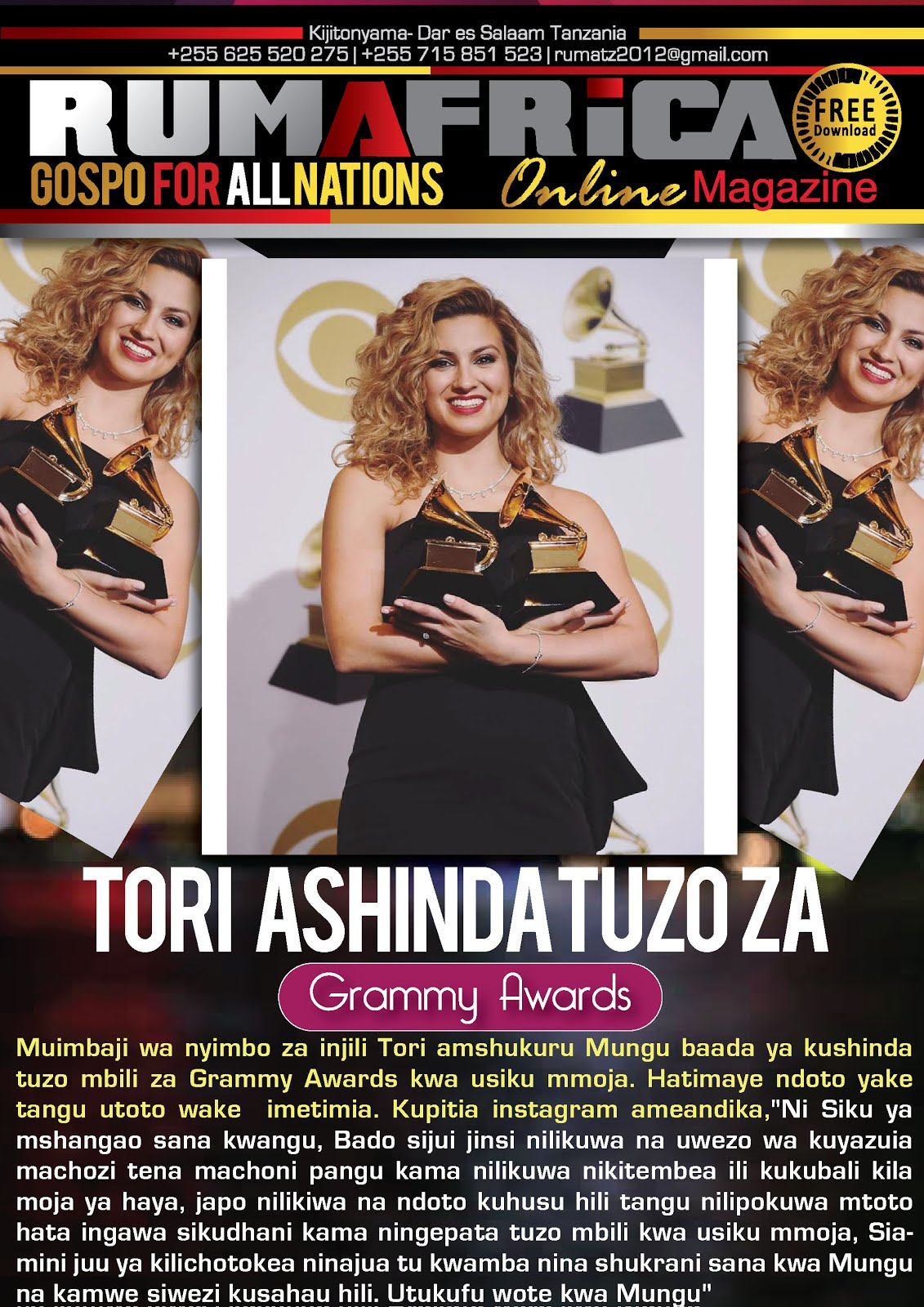 TORI - GRAMMY AWARDS