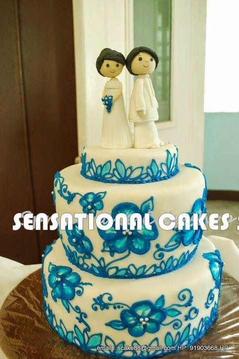The Sensational Cakes: SWEET SIMPLE COUPLE FIGURINES # WHITE WEDDING ...