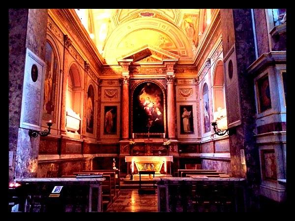 Kaplica z grobem św. Moniki, matki . Augustyna