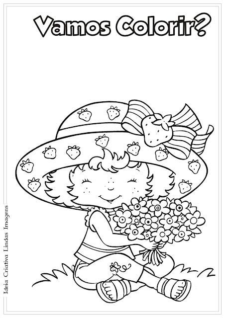 Desenho Moranguinho para colorir