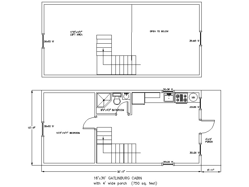 16x36 cabin floor plan joy studio design gallery best for Best cottage floor plans