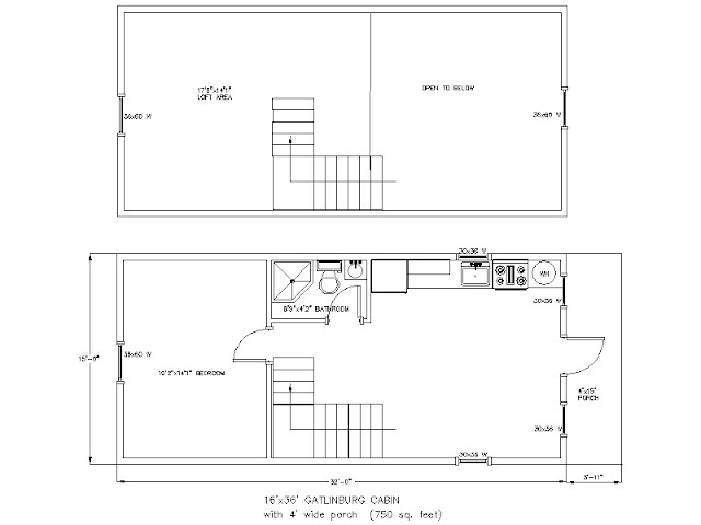 Small scale homes wood tex 768 square foot prefab cabin for 16x32 house plans