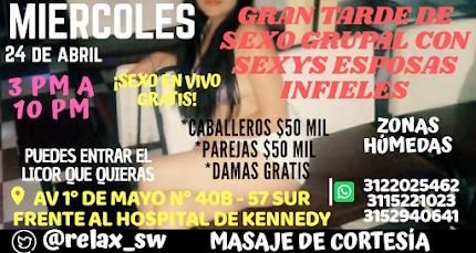 MIÉRCOLES 24 DE ABRIL DE 3 PM A 10 PM GANG BANG CON HERMOSAS CHICAS SW
