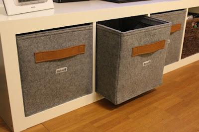 felt boxes for Ikea shelving
