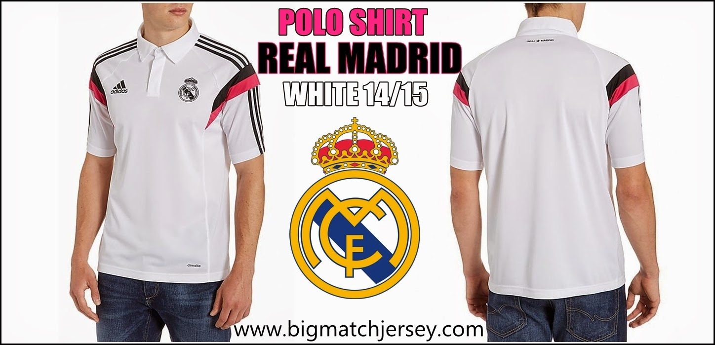 HOME MENS CLOTHING REPLICA ADIDAS REAL MADRID POLO SHIRT WHITE 2015